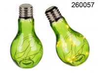 Glass Bulb with LEDs - Green