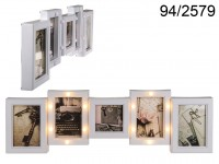 Glamour Picture Frame with LEDs for 5 Pictures