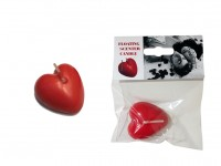 Floating Scented Heart Candle - 1 piece
