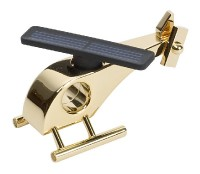 24-carat Gold Plater Helicopter (with solar)