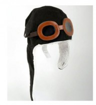 Aviator Hat for Children - Black