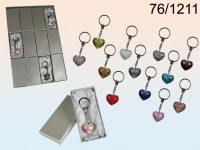 Glass Heart Keychain