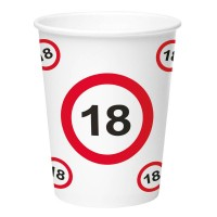 Birthday Party Cups (8 pieces) - 18
