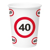 Birthday Party Cups (8 pieces) - 40