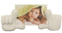 Baby Hands Photo Frame - White