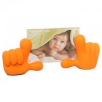 Baby Hands Photo Frame - Orange