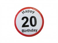 Happy Birthday Badge - 20