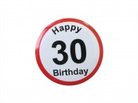 Happy Birthday Badge - 30