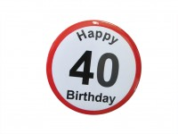 Happy Birthday Badge - 40