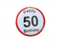 Happy Birthday Badge - 50