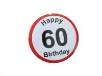 Happy Birthday Badge - 60