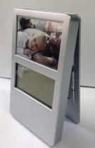 Clock with 3 Picture Frames