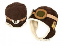 Aviator Hat for Children - Brown