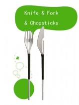 3in1 Fork and Knife Chopsticks