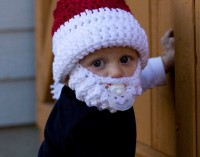 Santa Claus Hat with Beard for Children