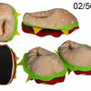 Hamburger Slippers - sizes 37-42