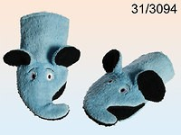 Bath Mitt - Blue Elephant