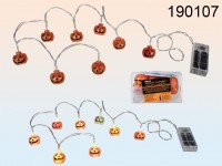 Halloween Fairy Lights with Pumpkins