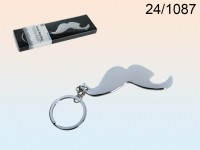 Bottle Opener on Keychain - Mustache