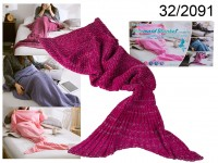 Crimson Mermaid Blanket 180 cm
