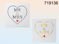 Mr & Mrs Sign with LEDs