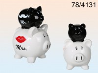 Double Piggy Bank - Mr and Mrs