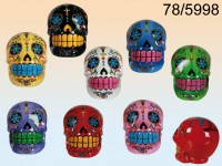 Coloured Skull Money Box