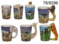 3D Wildlife Animals Mug
