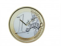 1 Euro Coin Wall Clock