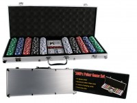 500 Chips Poker Set in Aluminum Case