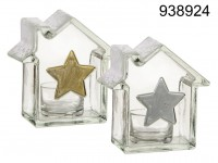 Tealight Holder - Winter House with a Star