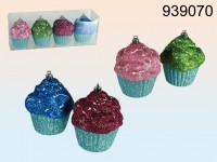 Muffin Bauble - 4 items