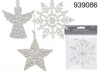 Plastic Christmas Tree Decoration - 2 pieces