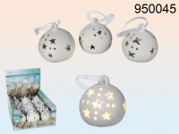 Ceramic Snowball with LED