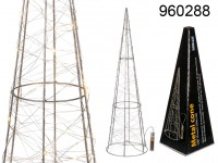 60 cm Metal Cone - Decoration with LEDs