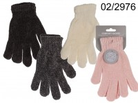 Comfort gloves, Chenille, 100% polyester, one ...