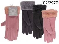 Artificial leather gloves, Elegance, 100 % ...