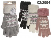 Comfort gloves, Ice Flower, 100% Polyacryl, one ...