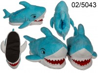 Cosy slipper, Shark, 100 % polyester, size: 37 - ...