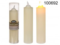 Ivory coloured church candle with swing flame ...