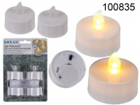 Tealight with warm white flickering LED, incl. ...