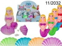 Growing mermaid in shell, ca. 7 cm, 4 colours ...