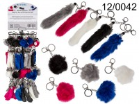 Metal keychain, Artificial fur Fox Tail & ...