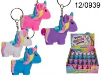 Metal key chain, Squeeze Unicorn I, Pop Fart, ca. ...