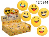 Anti Stress Ball, Emotion, ca. 6 cm, in net with ...