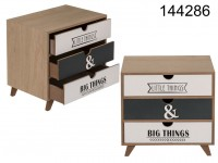 Wooden cabinet, 3 drawers, little things & big ...