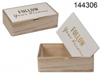 White/natural coloured wooden box , Follow your ...