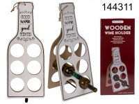 Wooden wine holder, GOOD wine good TIMES, for 6 ...