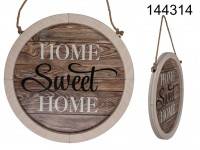 Nature coloured wooden plaque, Home Sweet Home, ...