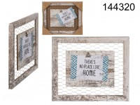 White coloured wooden deco  frame, with clip ...